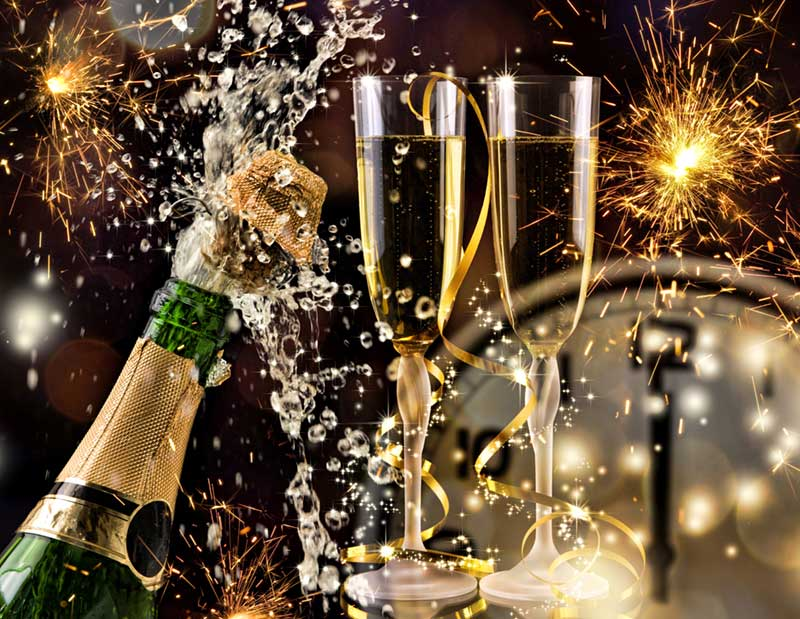 newyears champagne celebration